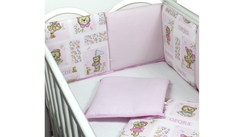 Бортик в кроватку АБВГДейка (розовый) фото (1)