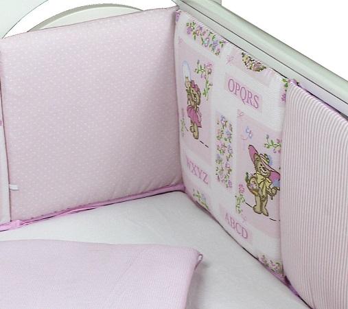 Бортик в кроватку АБВГДейка (розовый) фото (2)