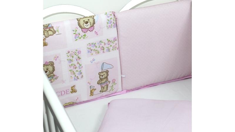 Бортик в кроватку АБВГДейка (розовый) фото (3)