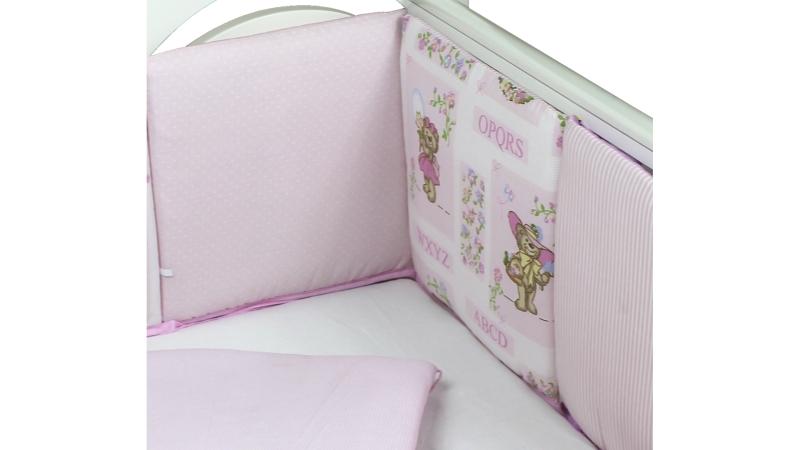 Бортик в кроватку АБВГДейка (розовый) фото (4)