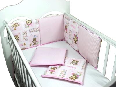 Бортики в кроватку АБВГДейка (розовый) фото