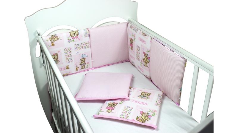 Бортик в кроватку АБВГДейка (розовый) фото (0)