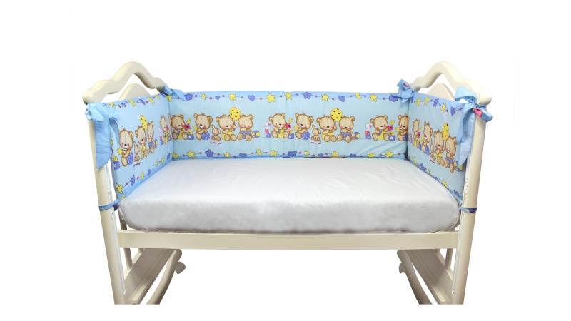 Бортик в кроватку Давай поиграем (голубой) фото (0)