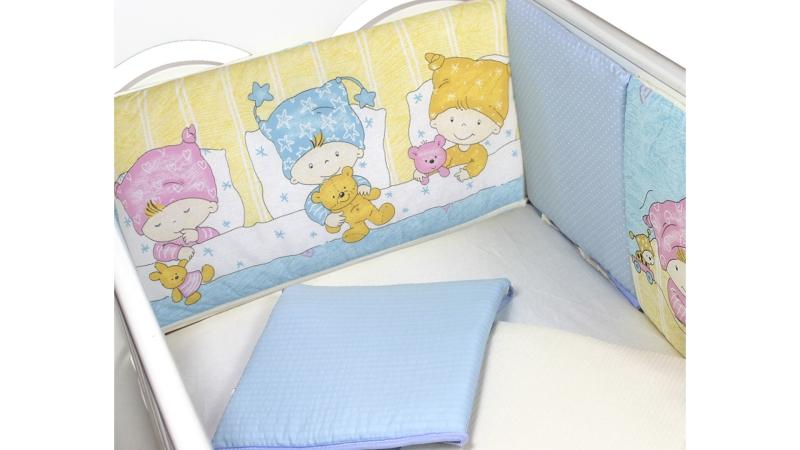 Бортик в кроватку Детки (голубой) фото (1)
