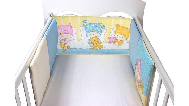 Бортик в кроватку Детки (голубой) фото (2)