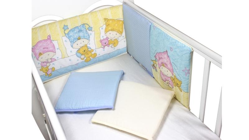 Бортик в кроватку Детки (голубой) фото (0)