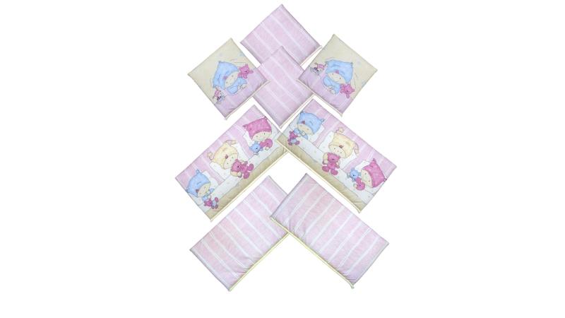 Бортик в кроватку Детки (розовый) фото (4)