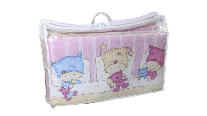 Бортик в кроватку Детки (розовый) фото (5)