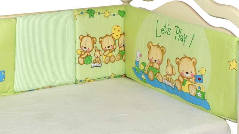 Бортик в кроватку Игрушечный (зеленый) фото (2)
