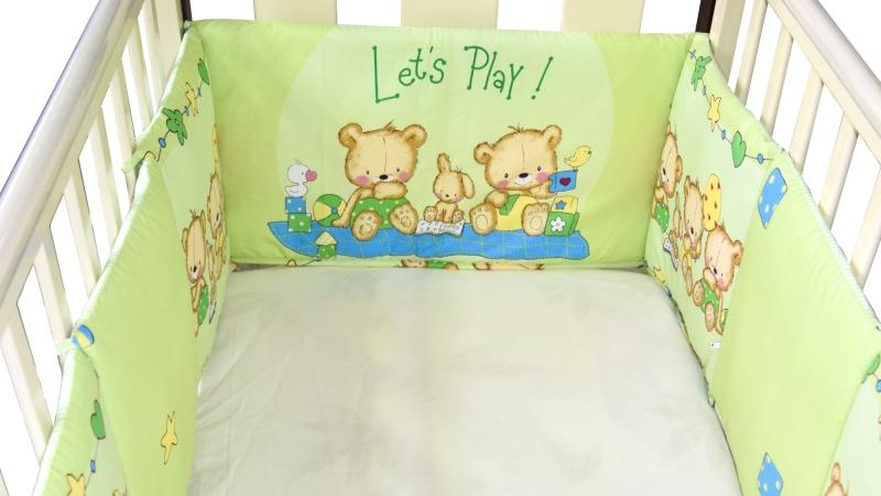 Бортик в кроватку Игрушечный (зеленый) фото (3)