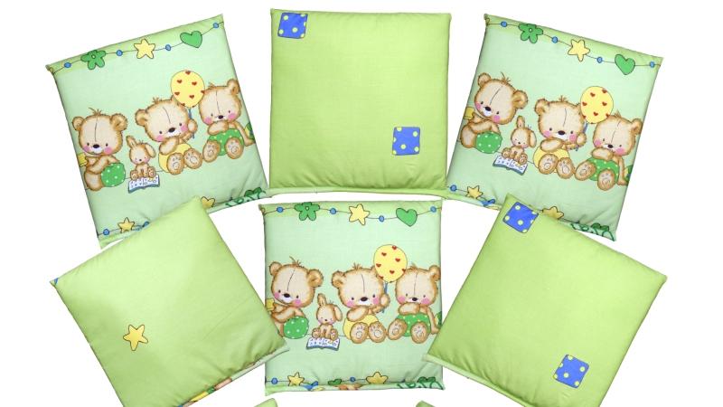 Бортик в кроватку Игрушечный (зеленый) фото (4)