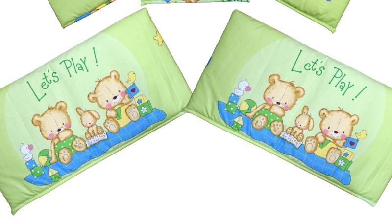 Бортик в кроватку Игрушечный (зеленый) фото (5)