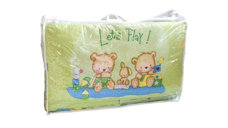 Бортик в кроватку Игрушечный (зеленый) фото (6)