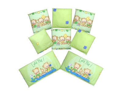 Бортики в кроватку Игрушечный (зеленый) фото