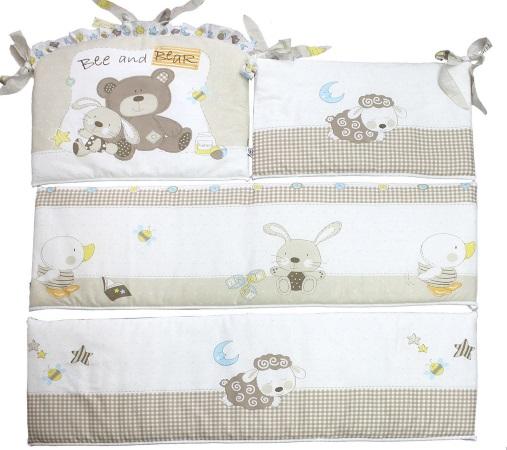 Бортик в кроватку Мишка с зайкой - 1 фото (2)