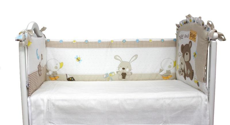 Бортик в кроватку Мишка с зайкой - 1 фото (3)