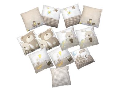 Бортики в кроватку Мишка с зайкой - 2 фото