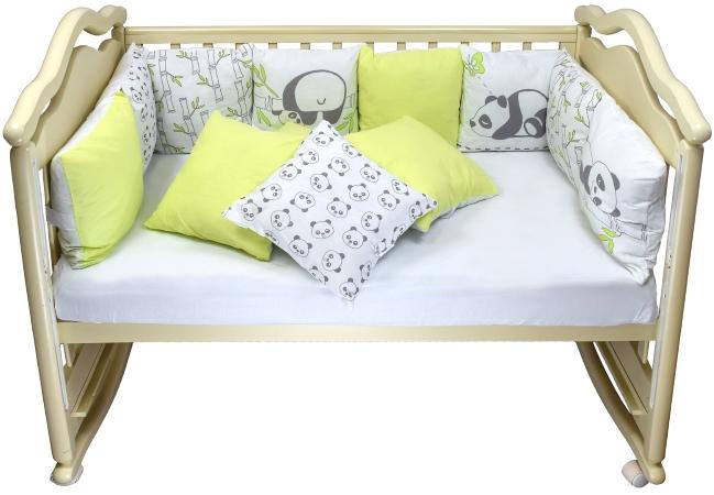 Бортик в кроватку Панды фото (1)
