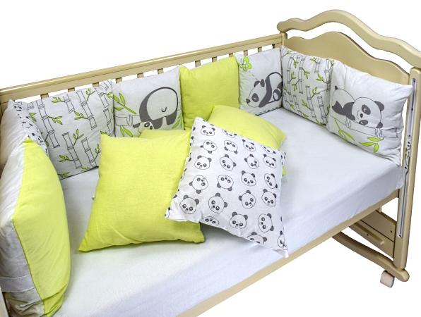 Бортик в кроватку Панды фото (2)