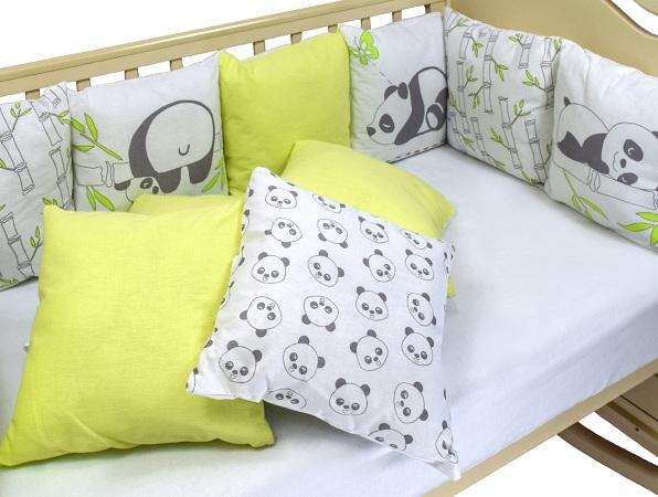 Бортик в кроватку Панды фото (3)