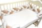 Бортик в кроватку Косичка Бежевая фото мни (1)