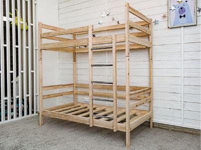 Детская кровать Felicita (двухъярусная; натуральный) фото