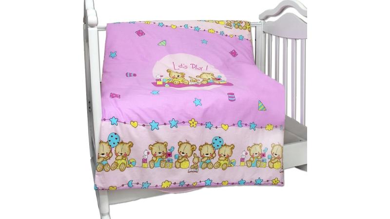 Детское постельное бельё Пододеяльник (розовый) фото (0)