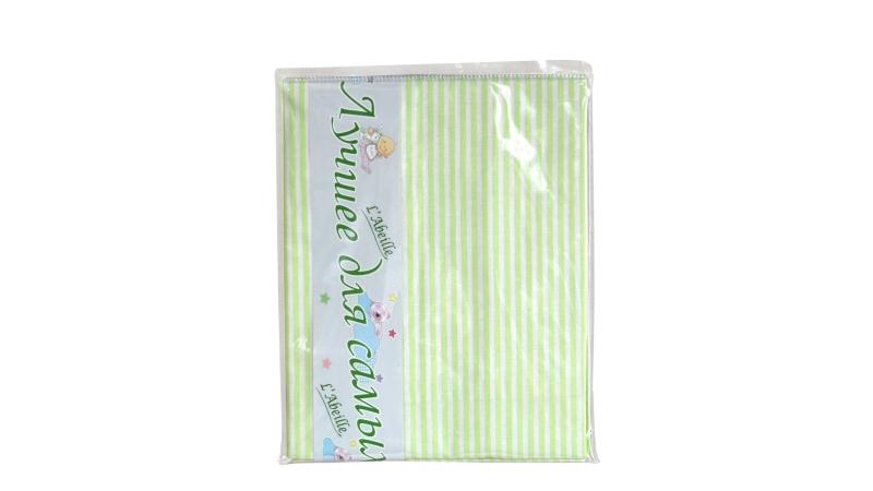 Детское постельное бельё Простыня (зелёная) фото (0)