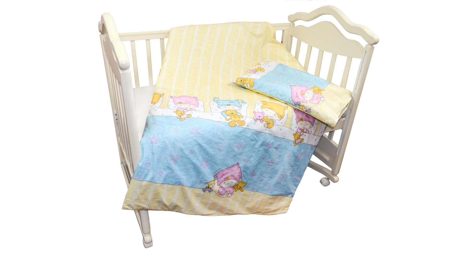 Детское постельное бельё Детки (голубой) фото FullHD (0)