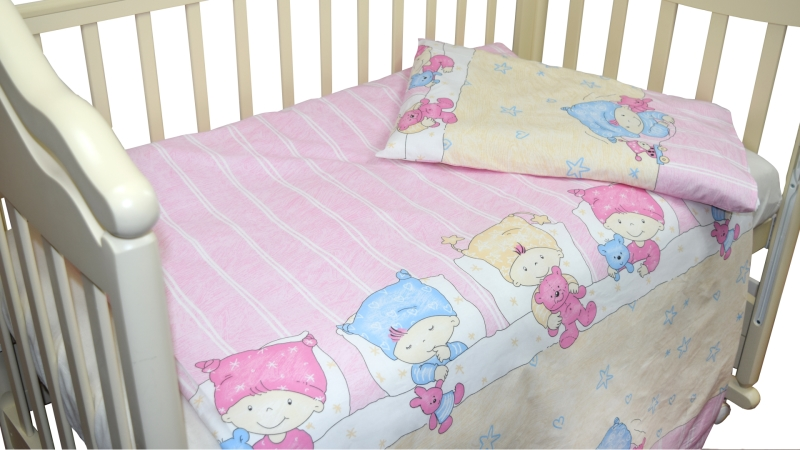 Детское постельное бельё Детки (розовый) фото (1)