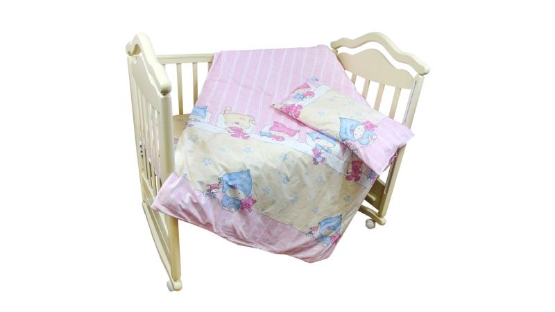 Детское постельное бельё Детки (розовый) фото (0)