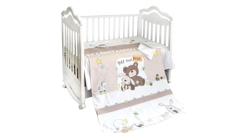 Детское постельное бельё Мишка с зайкой фото (1)