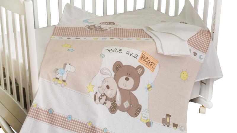 Детское постельное бельё Мишка с зайкой фото (2)