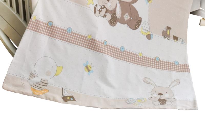 Детское постельное бельё Мишка с зайкой фото (3)