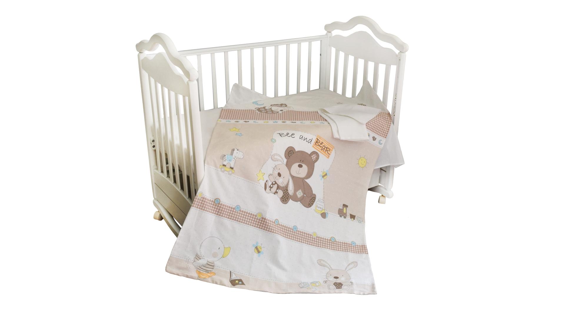 Детское постельное бельё Мишка с зайкой фото FullHD (0)