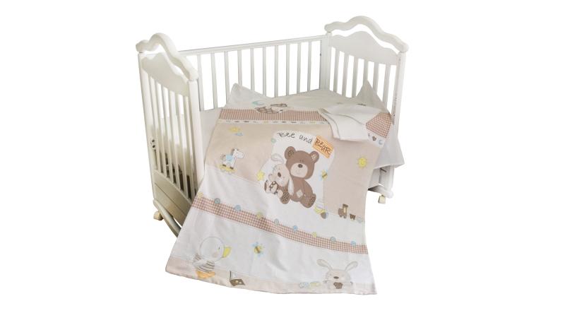 Детское постельное бельё Мишка с зайкой фото (0)