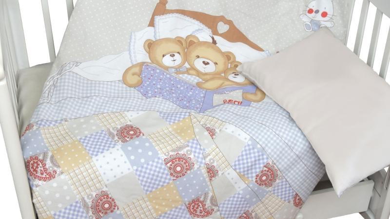 Детское постельное бельё Мишки под одеялом фото (2)