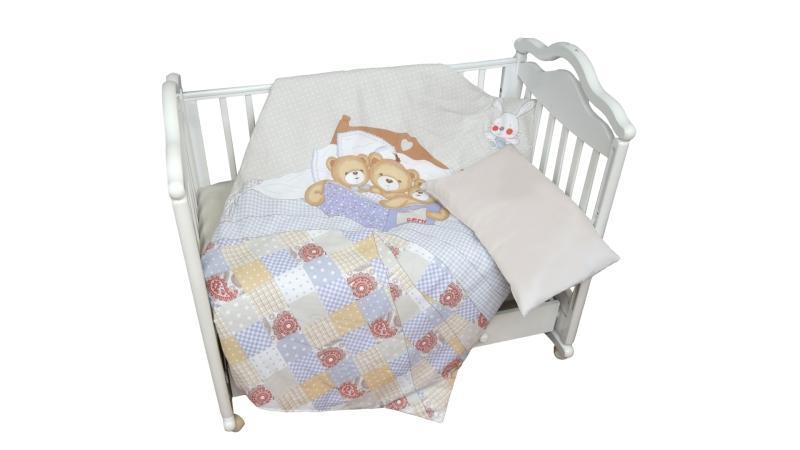 Детское постельное бельё Мишки под одеялом фото (0)