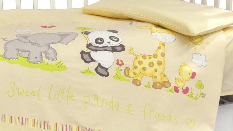 Детское постельное бельё Панда с друзьями фото (3)