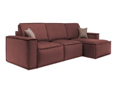 Диван Руслан угловой диван еврокнижка (бордовый) фото