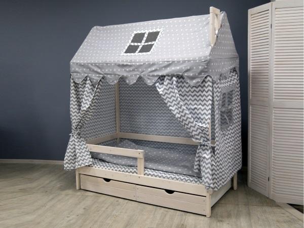Домик-кроватка Fiabo (с бортом и ящиками) фото (1)