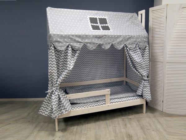 Домик-кроватка Fiabo (с бортом; беленый дуб) фото (2)