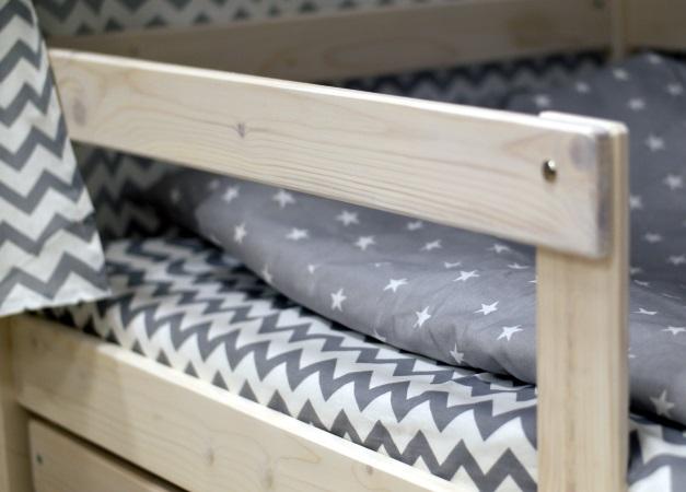 Домик-кроватка Fiabo (с бортом; беленый дуб) фото (5)