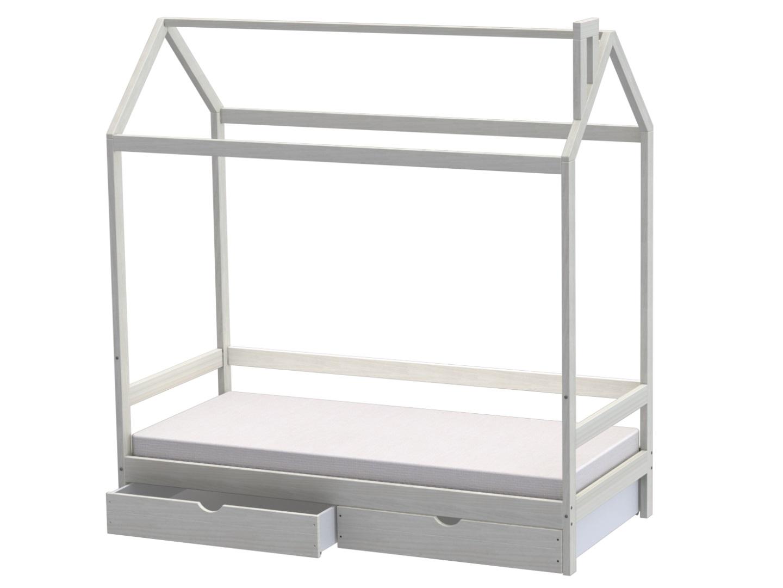 Домик-кроватка Fiabo (с ящиками) фото FullHD (0)