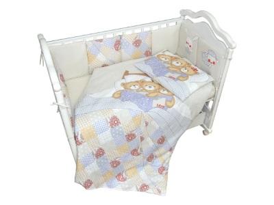 Комплект в кроватку Мишки под одеялом (4) фото