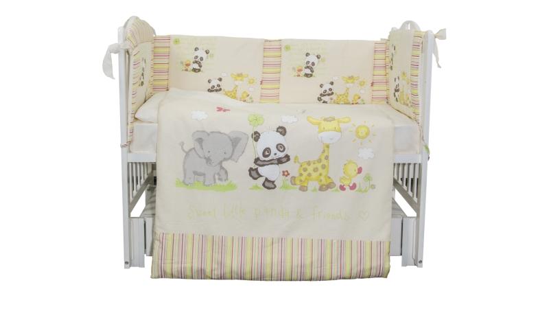 Комплект в кроватку Панда с друзьями (6) фото (1)