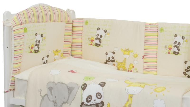 Комплект в кроватку Панда с друзьями (6) фото (6)