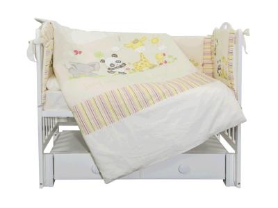 Комплект в кроватку Панда с друзьями (6) фото