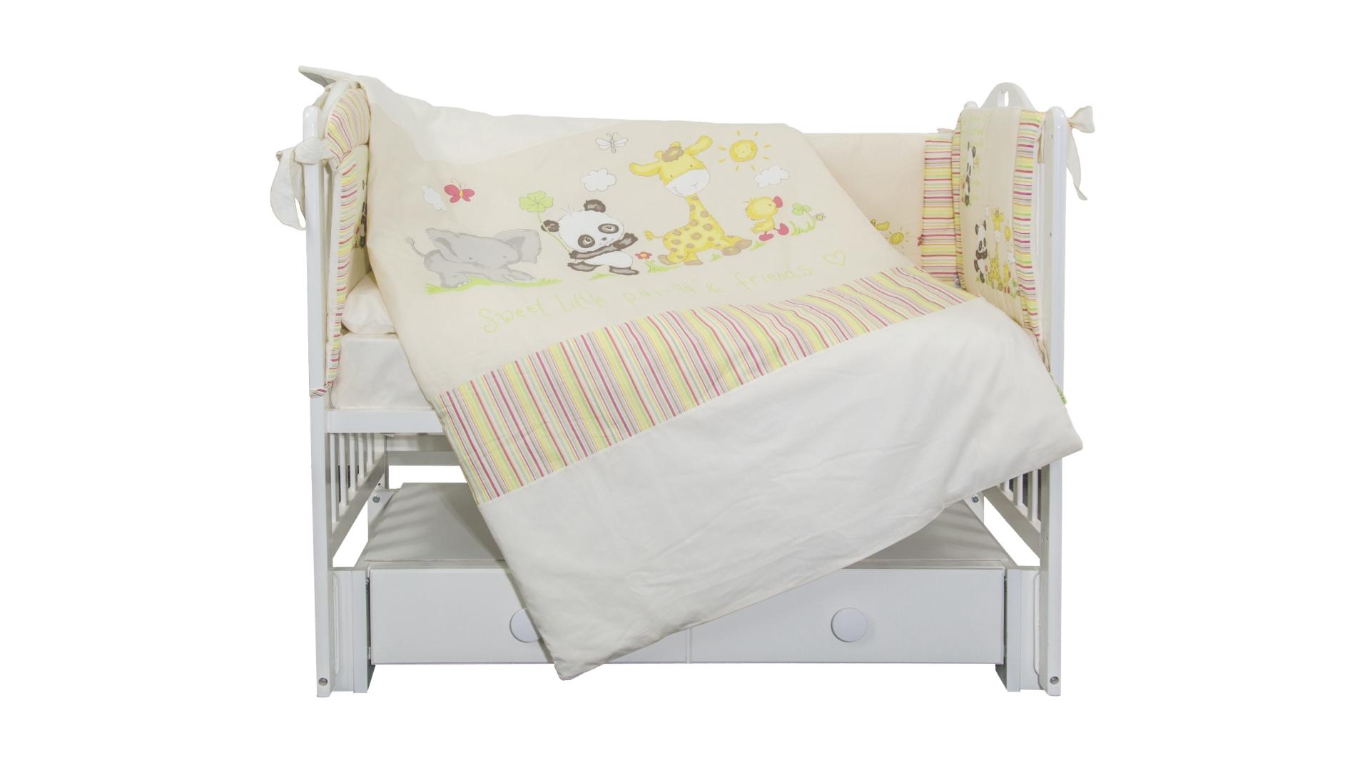 Комплект в кроватку Панда с друзьями (6) фото FullHD (0)
