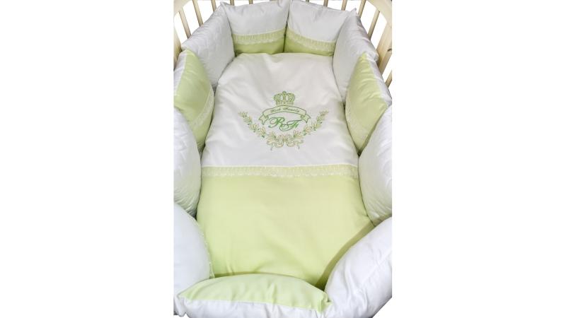 Комплект в кроватку Rich Family зелёный (6) фото (1)